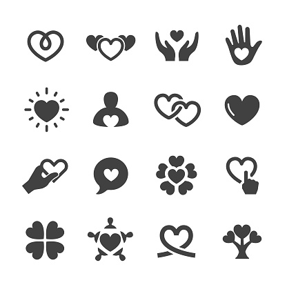 Care and Love Icons - Acme Series - gettyimageskorea