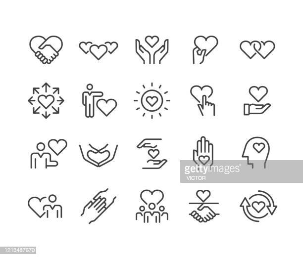 ケアと愛のアイコン - クラシックラインシリーズ - ホスピス点のイラスト素材/クリップアート素材/マンガ素材/アイコン素材