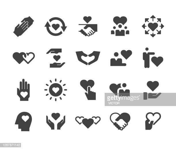 ケアと愛のアイコン - クラシックシリーズ - ホスピス点のイラスト素材/クリップアート素材/マンガ素材/アイコン素材