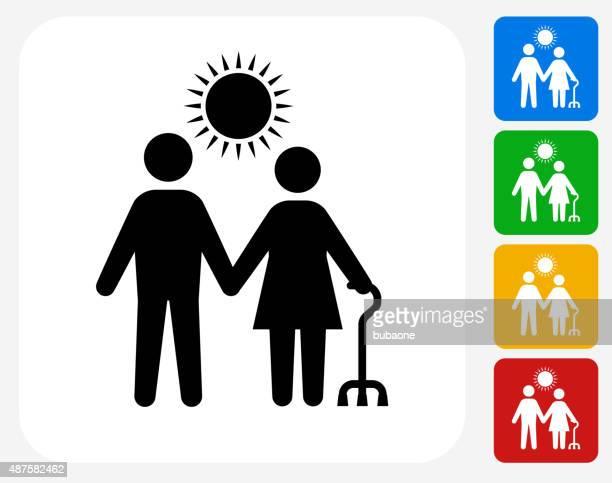 Care Giver Icon Flat Graphic Design