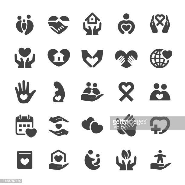 care icons - smart series - altruism stock illustrations