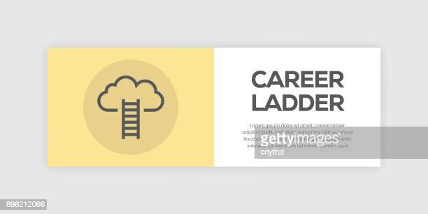 Career Ladder Line Infographic Web Banner