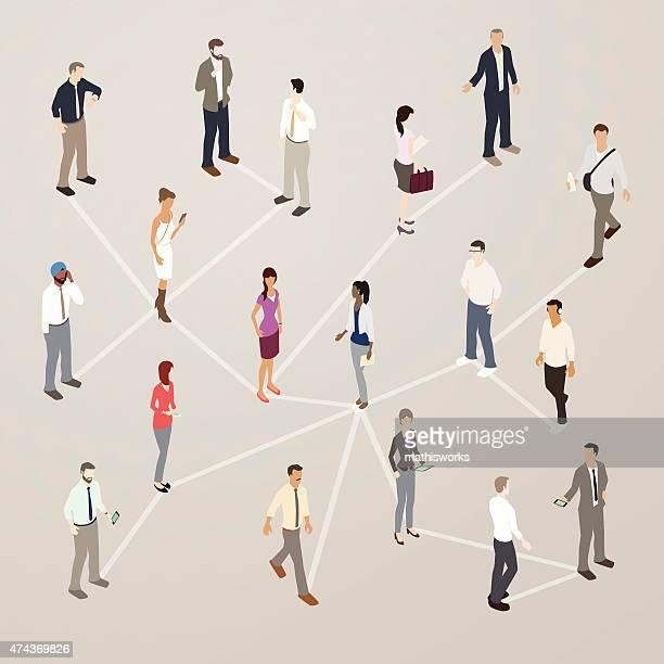 career networking illustration - mathisworks stock illustrations