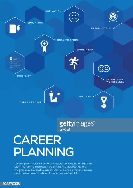 Career Planning. Brochure Template Layout, Cover Design