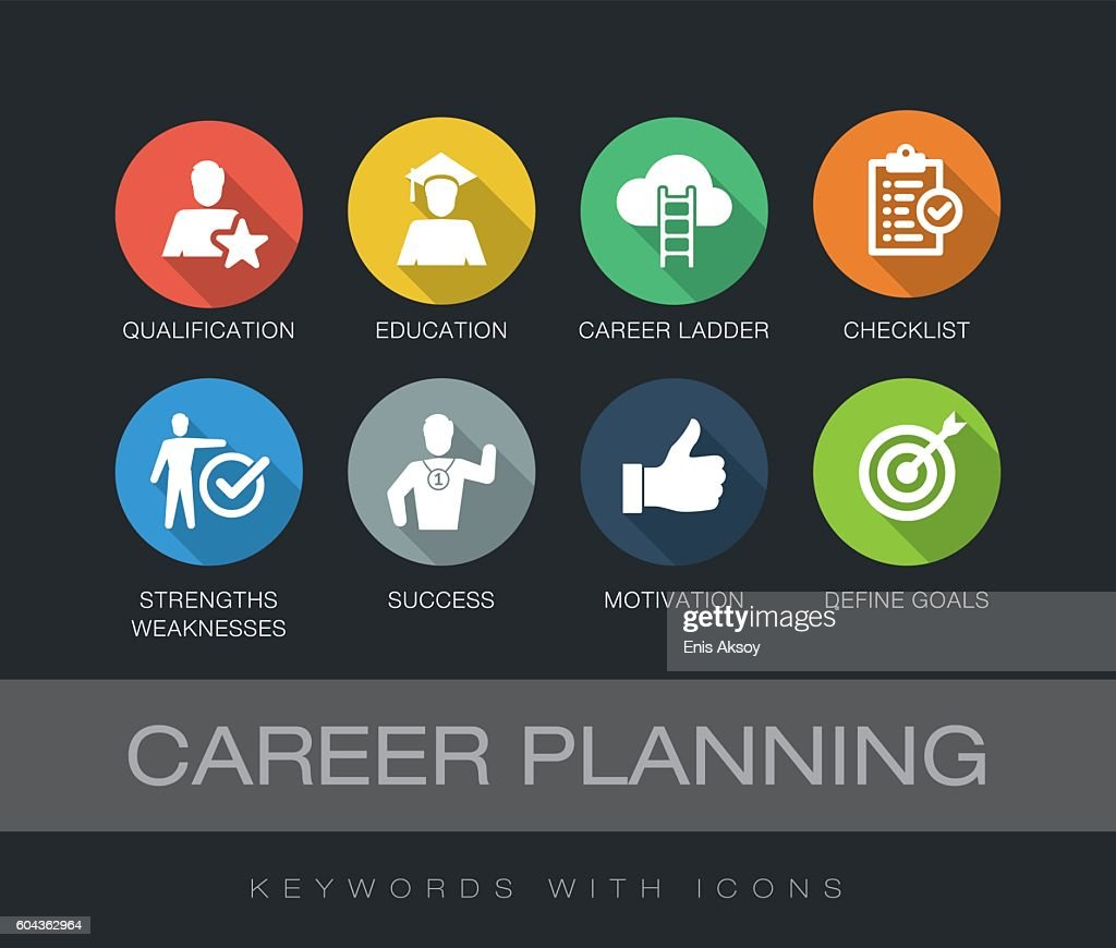 Career Planning keywords with icons