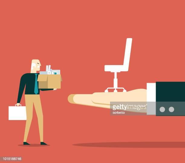 career - senior men - prejudice stock illustrations, clip art, cartoons, & icons