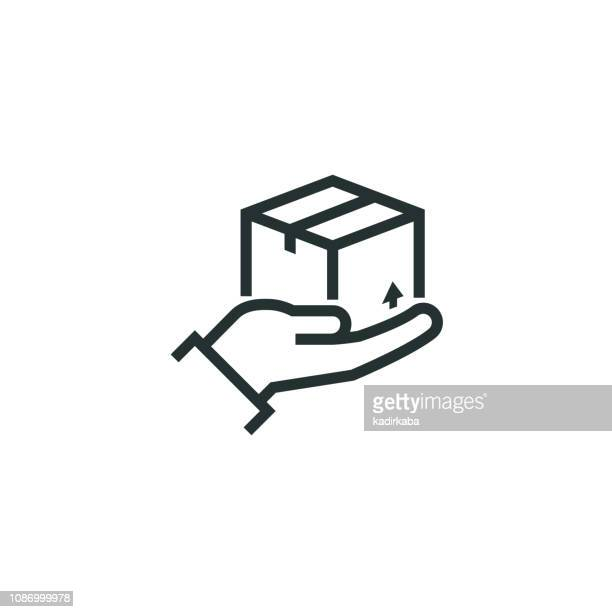 cargo line schutzsymbol - paket stock-grafiken, -clipart, -cartoons und -symbole
