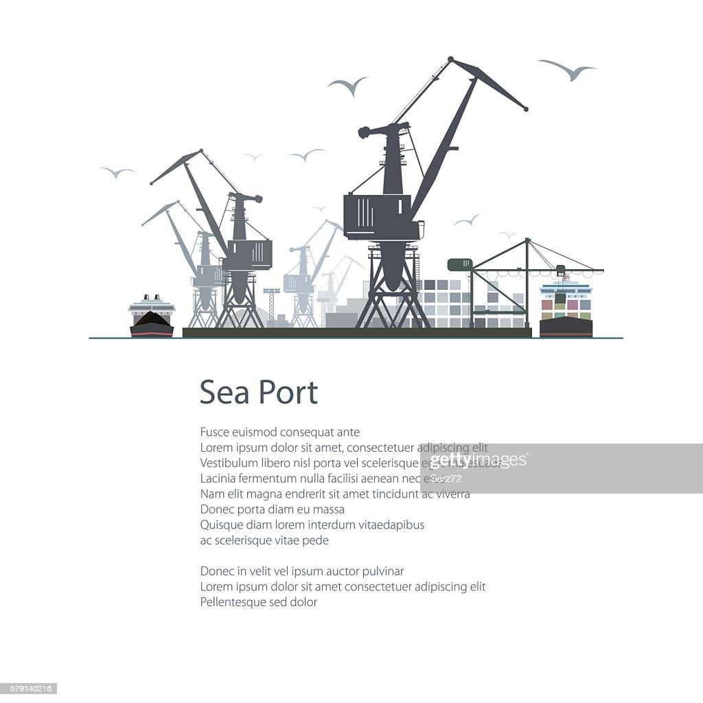 Cargo Sea Port Poster Brochure