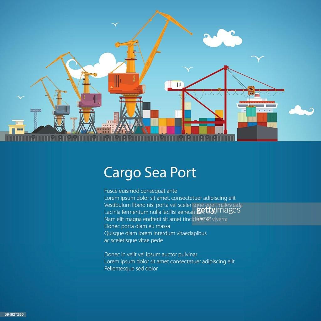 Cargo Seaport Poster Brochure