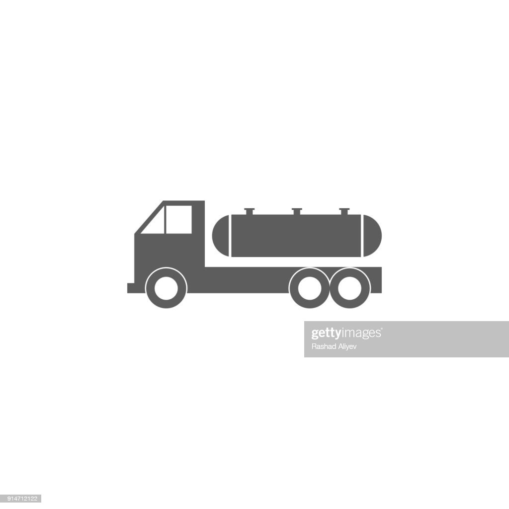 cargo transportation of gasoline icon. Element of oil and gas icon. Premium quality graphic design icon. Signs and symbols collection icon for websites, web design, mobile app