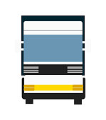 Cargo truck isolated vector icon