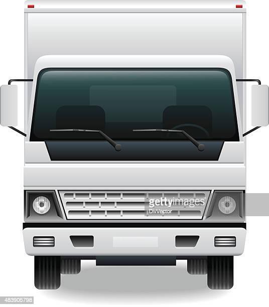 illustrations, cliparts, dessins animés et icônes de camion utilitaire - chauffeur routier