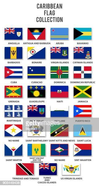 stockillustraties, clipart, cartoons en iconen met caribische vlag collectie - sint maarten caraïbisch eiland
