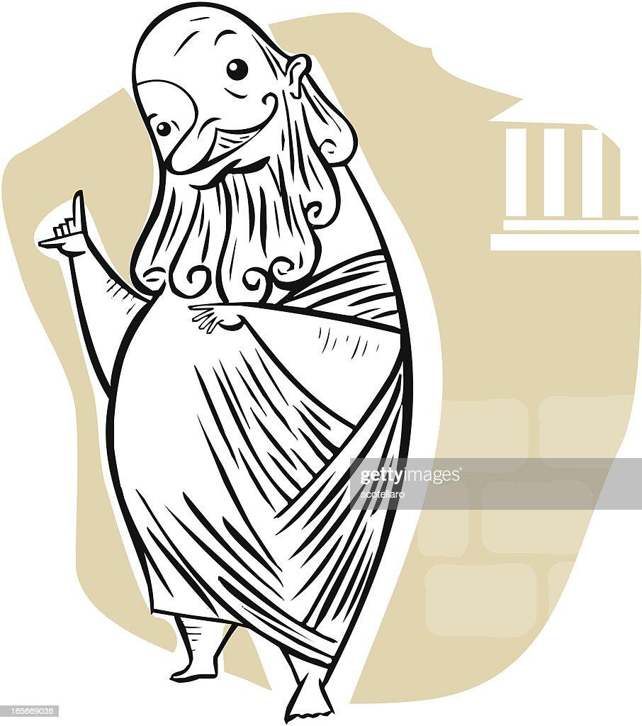 caricatura de Sócrates