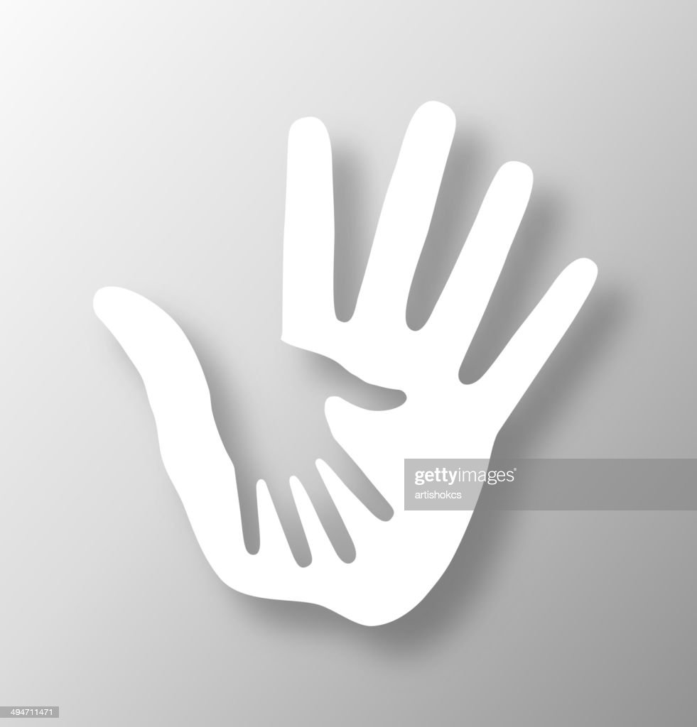 Caring hand applique
