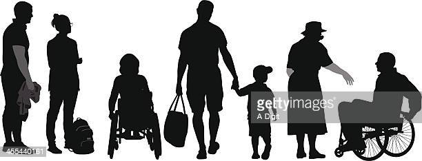 caring - physical disability stock illustrations, clip art, cartoons, & icons