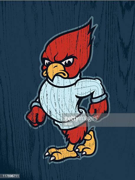 carl the cardinal - cardinal bird stock illustrations, clip art, cartoons, & icons