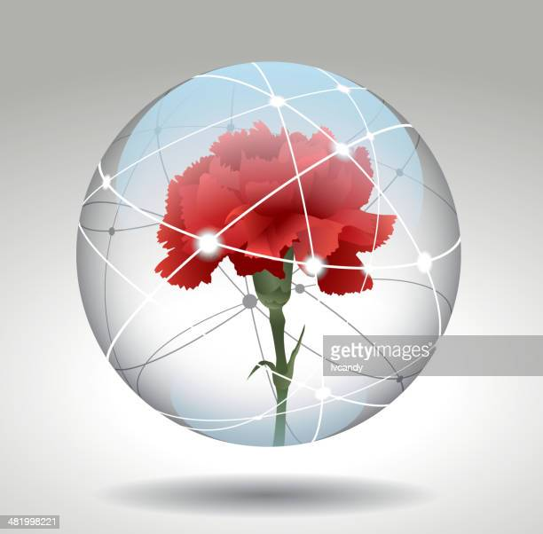 carnation in syberspace - carnation flower stock illustrations, clip art, cartoons, & icons