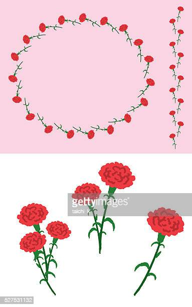 carnation - carnation flower stock illustrations, clip art, cartoons, & icons