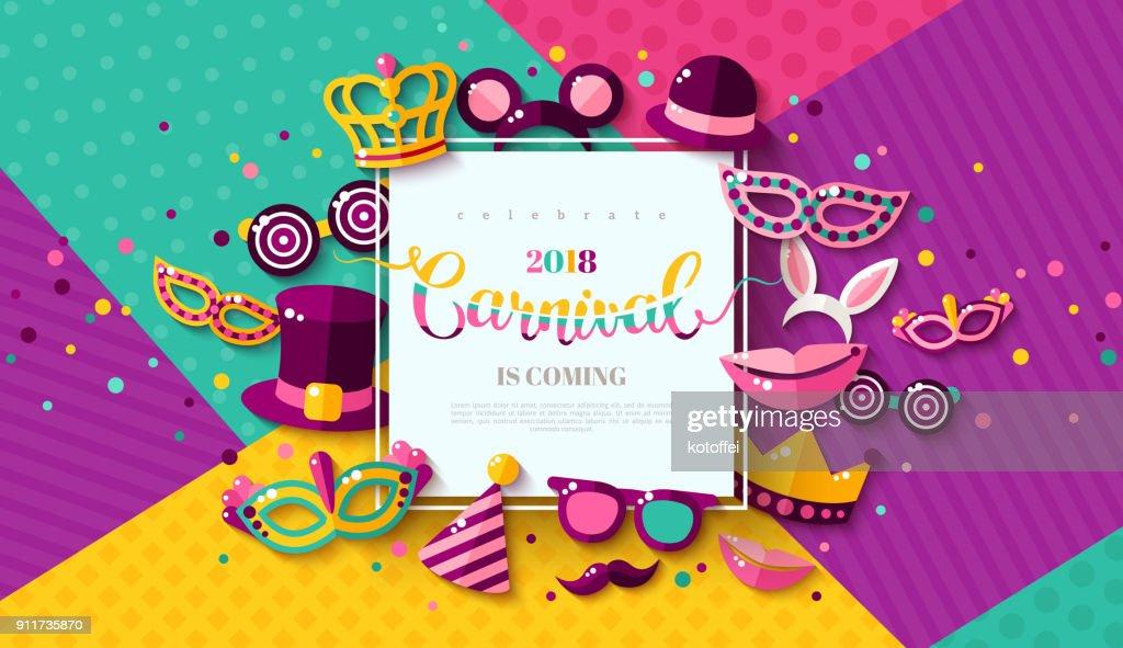 Carnaval funfair card