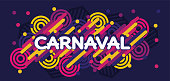 Carnaval modern background vector. Portuguese language.