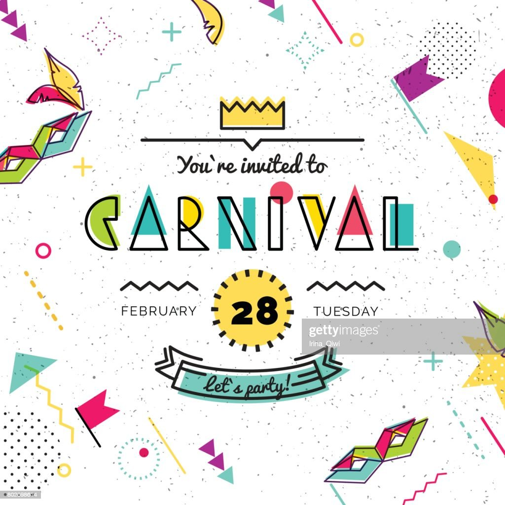 Carnival abstract background in style.