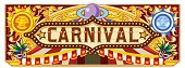 Carnival Banner for Circus Ticket