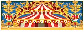 Carnival Banner with Vintage Circus