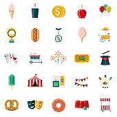 Carnival & Circus Flat Design Icon Set