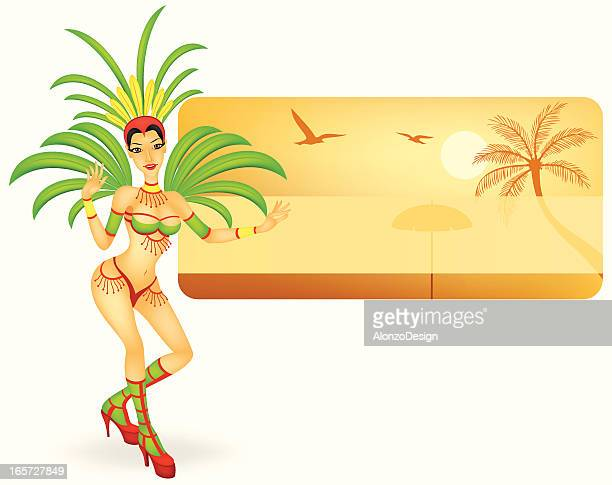 carnival dancer - samba stock illustrations