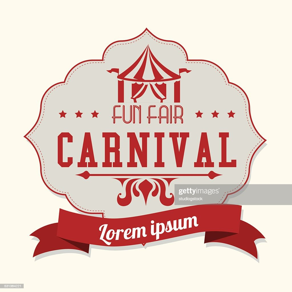 Carnival design over white background vector illustration
