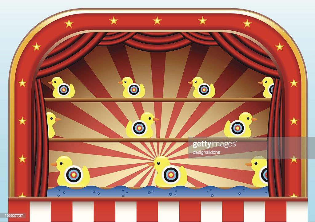 Carnival Duck Shoot : stock illustration