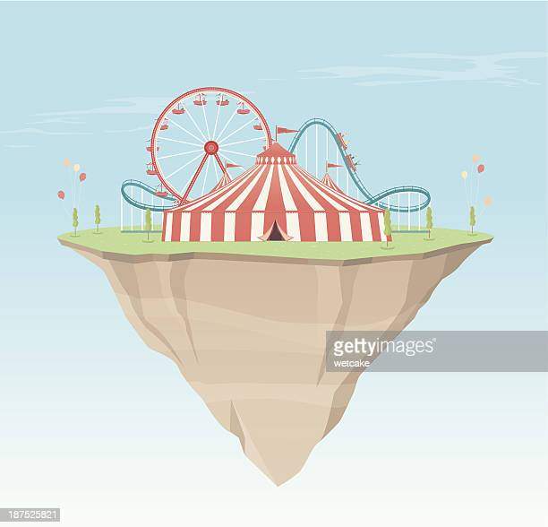 carnival island - ferris wheel stock illustrations, clip art, cartoons, & icons