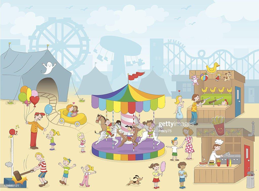 Carnival kids fun scene