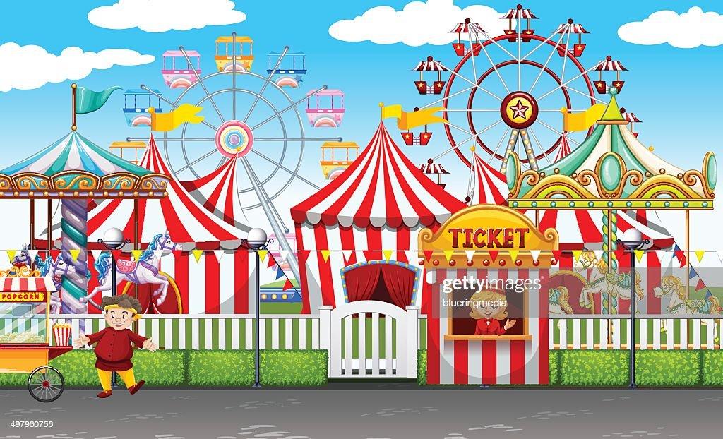 Carnival  many rides  shops