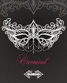 Carnival mask on black background. Venetian carnival.