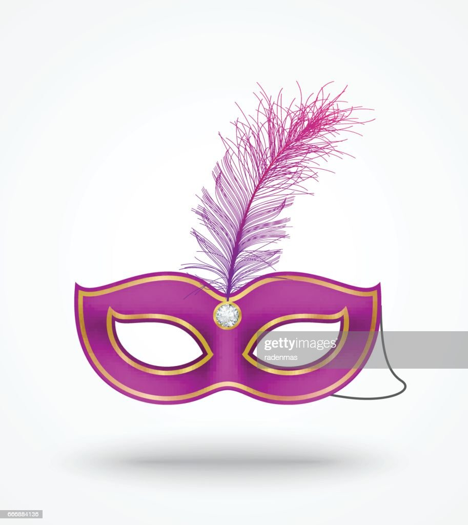 carnival masks with feathers