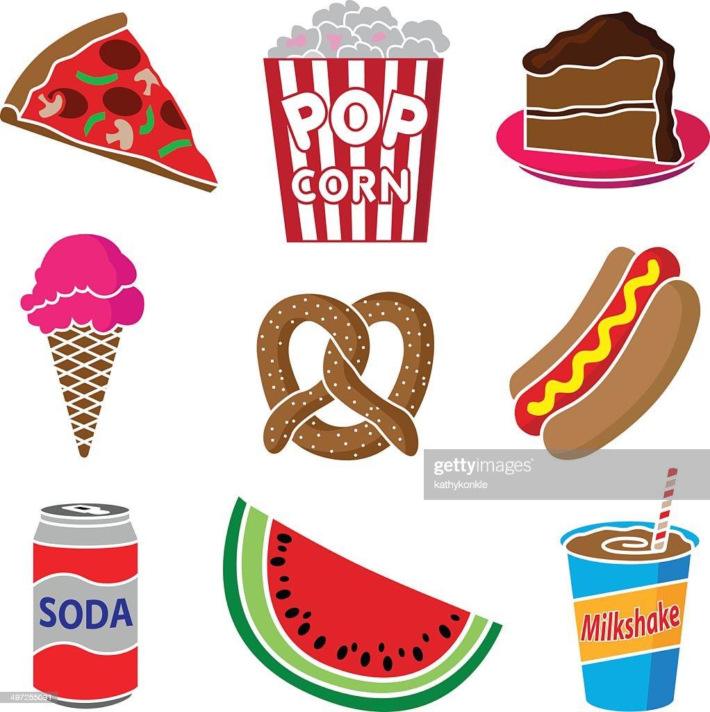 carnival or festival food : stock illustration