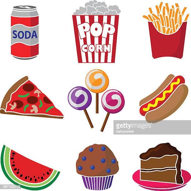 carnival or festival junk food