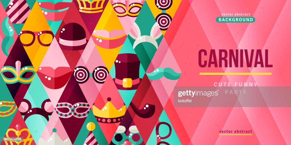 Carnival party creative banner
