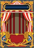 Carnival Poster with Circus Tent