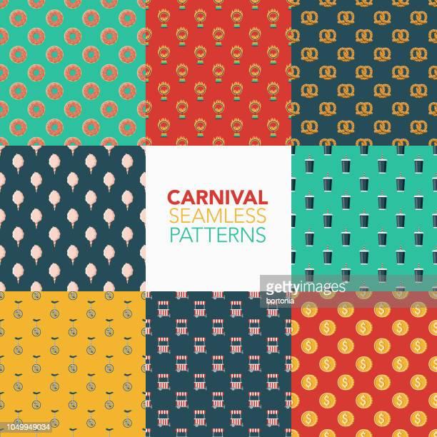 Carnival Seamless Pattern Set