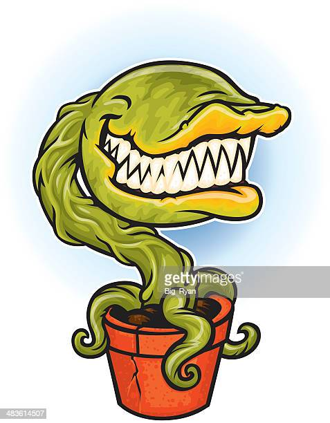 carnivorous plant - venus flytrap stock illustrations, clip art, cartoons, & icons