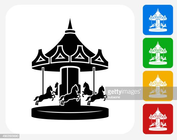 Carousel Icon Flat Graphic Design
