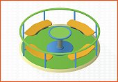 carousel isometric perspective view flat