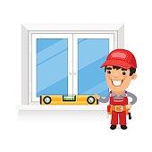 Carpenter Checks the New Window