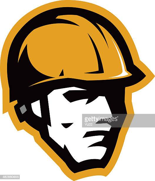 Carpenter head mascot