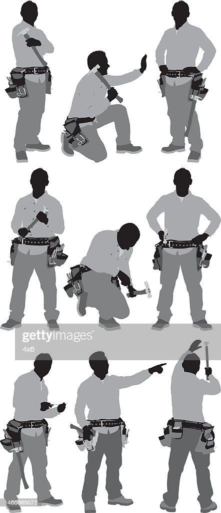 Carpenter em várias posições : Ilustração