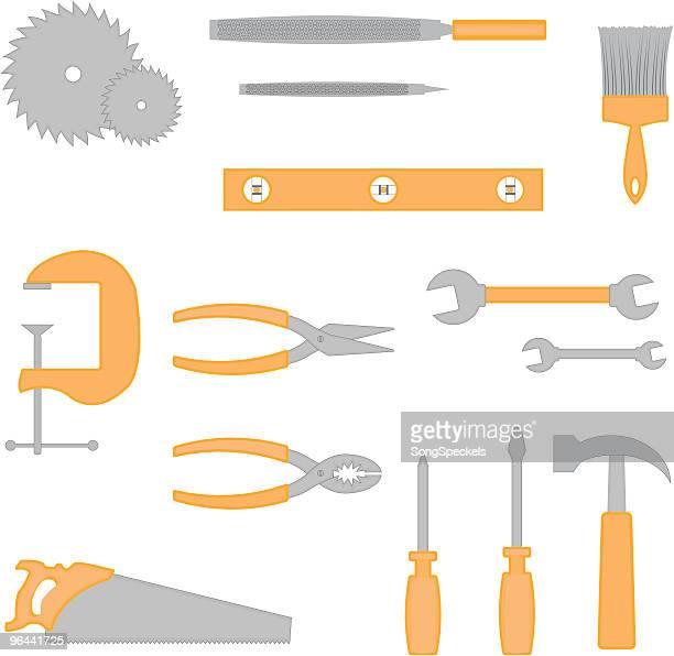Ícones de ferramentas de Carpinteiro