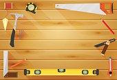 Carpenter Tools flat background